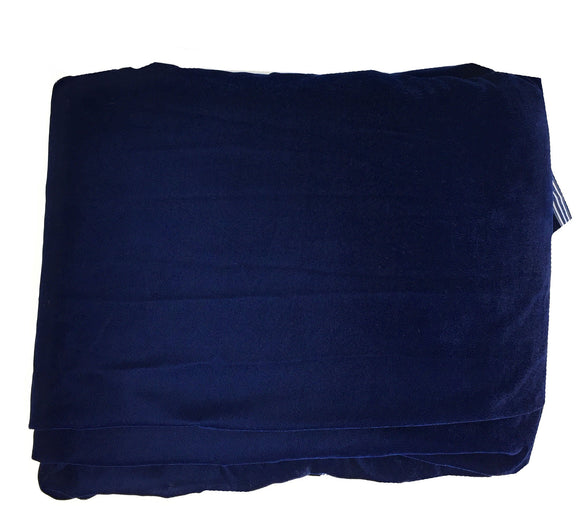 Soft blue Velvet Fabric Material