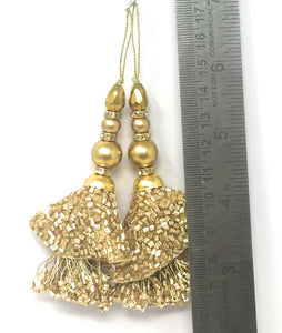 Matt Gold Thread Hangings For Blouses