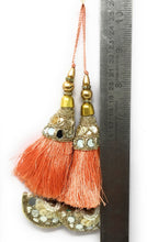 Load image into Gallery viewer, tassels for blouse online in peach  - Set of 2
