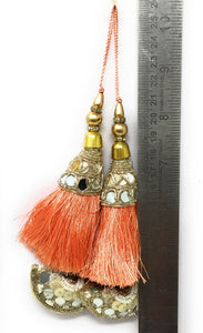 tassels for blouse online in peach  - Set of 2
