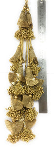 tassels in lehenga in gold  - Set of 2
