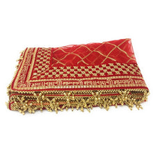 Load image into Gallery viewer, : HINDI Dupatta Red Net Embroidered Saubhagyavati Combinations