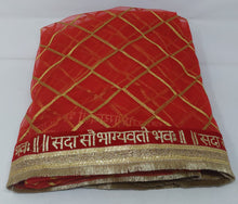 Load image into Gallery viewer, Bridal  Sada Saubhagyavati Bhava Heavy Wedding Dupatta