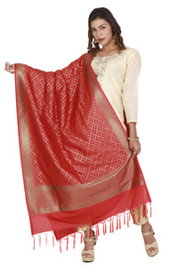 banarasi silk dupatta red
