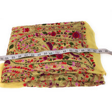 Load image into Gallery viewer, Chiffon & Georgette Floral Thread Work fabric material