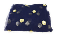 Load image into Gallery viewer, Navy Blue Net fabric