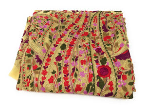 embroidered georgette fabric online