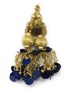 Navy Blue Thread n Beads Latkan - Set of 2