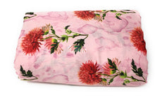 Load image into Gallery viewer, floral satin fabric