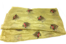 Load image into Gallery viewer, Yellow Chiffon & Georgette fabric