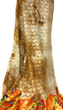 Load image into Gallery viewer, Beige Chiffon & Georgette fabric