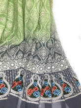 Load image into Gallery viewer, Green Chiffon & Georgette fabric