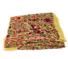 Load image into Gallery viewer, Embroidered Georgette Fabric, Small Floral Kashmiri Embroidery, Rich n Gorgeous