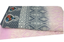 Load image into Gallery viewer, Rida Fabric, Lavender Georgette Embroidered Shaded Fabric