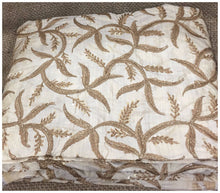Load image into Gallery viewer, plain fabric online online designer fabric store india Embroidered, Sequins Slub Beige, Brown, Gold 43 inches Wide 8063
