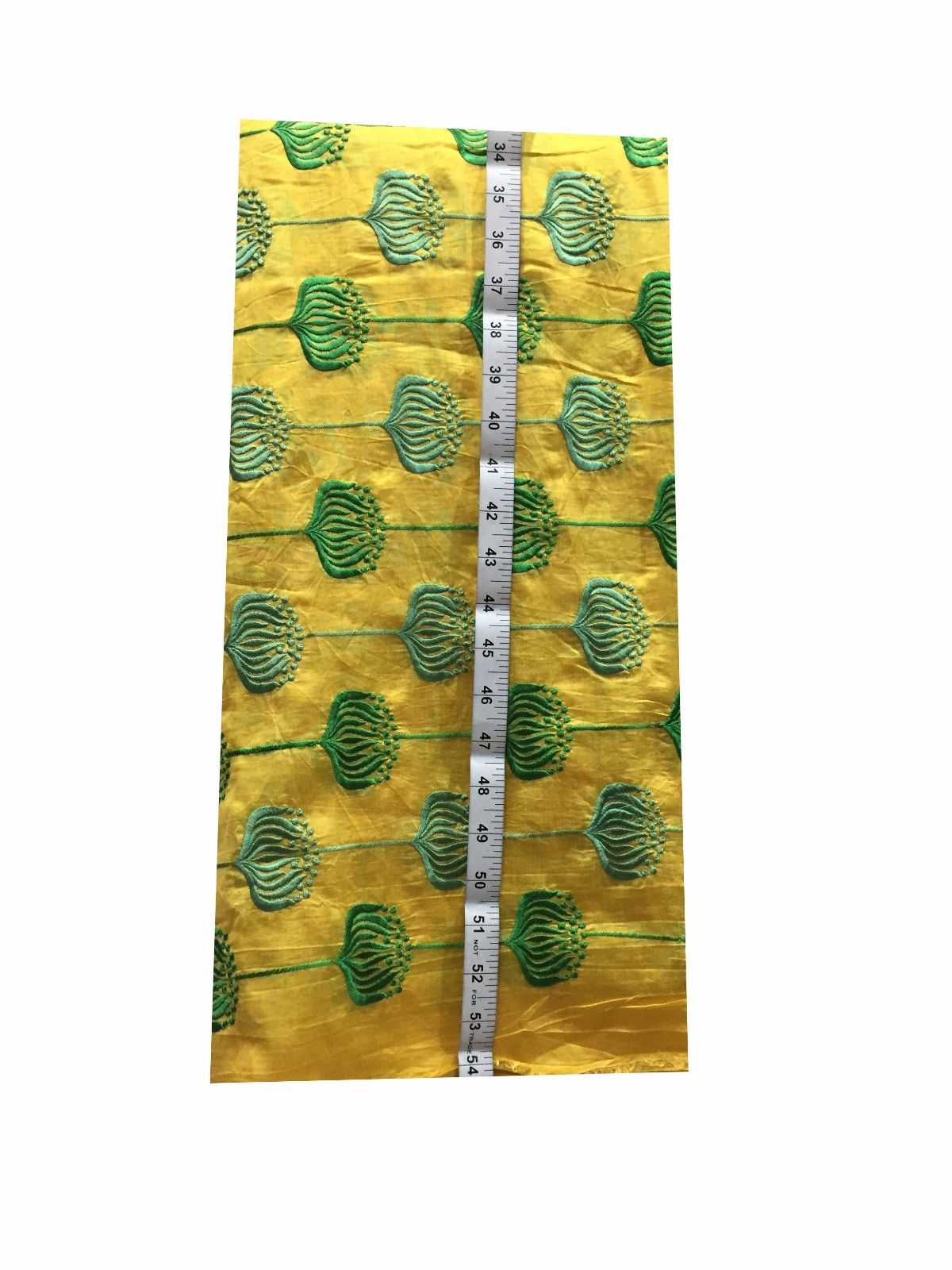 fabric shop online india cloth material online india Embroidered Chanderi Silk Yellow, Green 44 inches Wide 8090