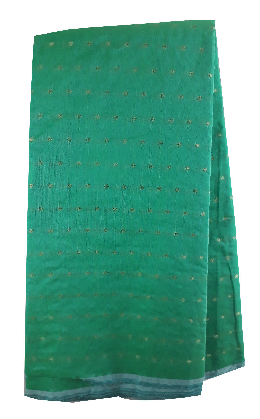 kurti fabric online embroidery dress material online shopping Chanderi Cotton Sea Green, Gold 42 inches Wide 1670