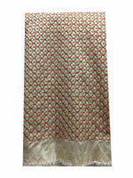 buy dress fabric online india designer fabric online india Embroidered Dupion Silk Beige, Bronze, Pink, Copper 42 inches Wide 8065