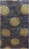 buy material running fabrics online india Jaquard Polyester Mix Blue, Dark Beige 50 inches Wide 9051