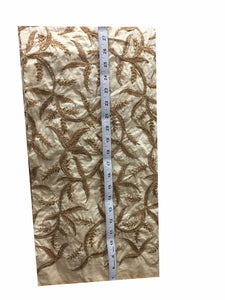 kurti fabric online india online designer fabric store india Embroidered, Sequins Slub Beige, Brown, Gold 43 inches Wide 8063