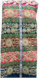 buy material online india embroidery things online Dupion Silk Multi-Color 46 inches Wide 9010