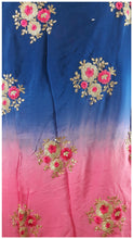 Load image into Gallery viewer, buy fabric online wholesale india embroidery dress material Chiffon Pink, Blue 44 inches Wide 1716