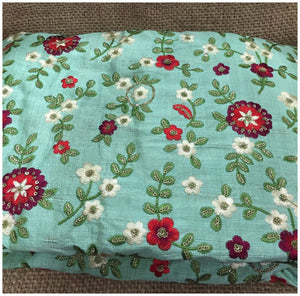 embroidery cloth materials embroidery fabric online india Cotton Mix / Slub Pista Green, Green, Maroon, Red, White, Gold 45 inches Wide 8074