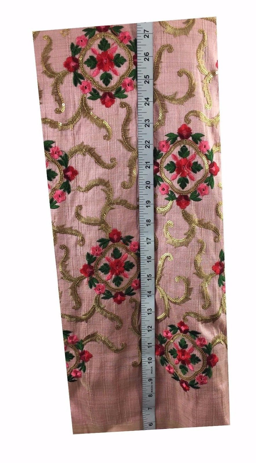 online fabric shopping buy blouse fabric online india Embroidered, Sequins Cotton Mix / Slub Pink, Gold, Red, Pink 48 inches Wide 9020