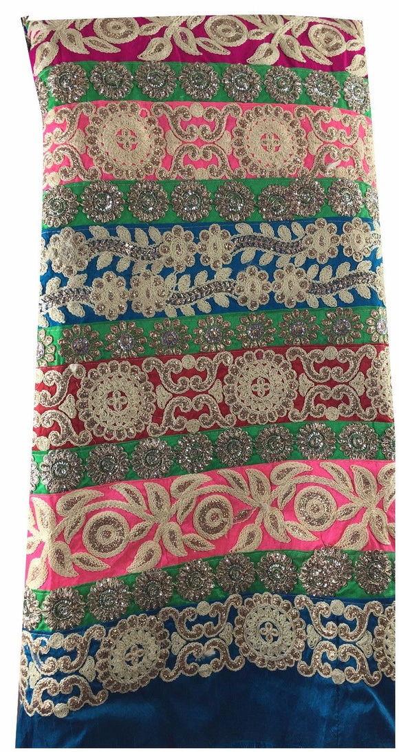 running fabrics online india embroidery things online Dupion Silk Multi-Color 46 inches Wide 9010