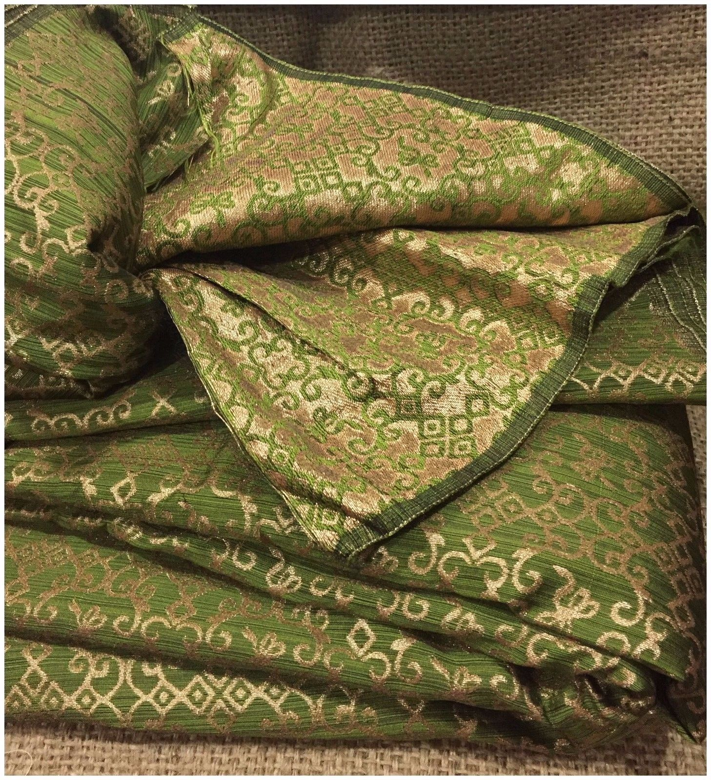 brocade fabricÊprice per meter 43 inches wide, Copper Jacquard Synthetic Brocade medium weight
