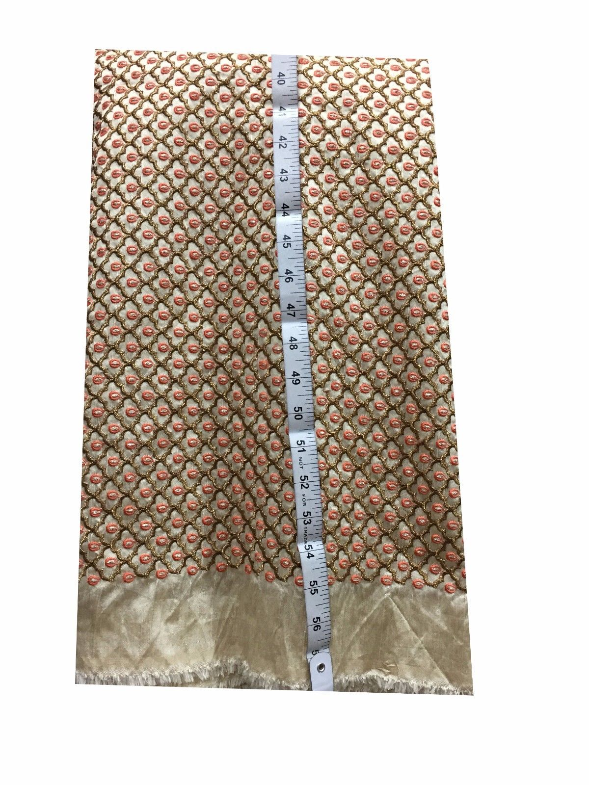 buy kurti fabric online designer fabric online india Embroidered Dupion Silk Beige, Bronze, Pink, Copper 42 inches Wide 8065