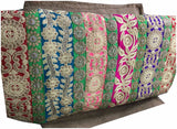 lace cloth material online india embroidery things online Dupion Silk Multi-Color 46 inches Wide 9010