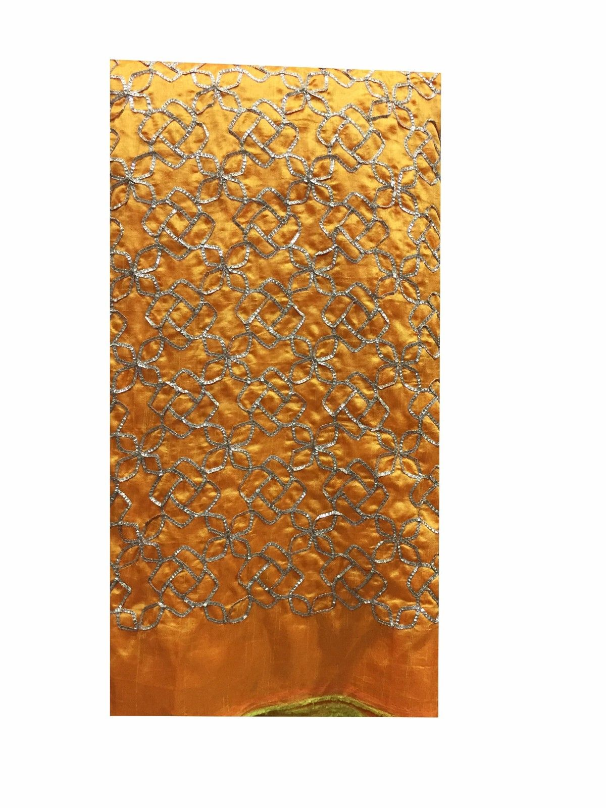fabric purchase online india embroidery dress online Paper Silk Yellow Orange, Gold 43 inches Wide 8066
