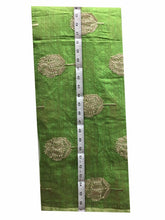 Load image into Gallery viewer, designer blouse material buy cloth material online india Embroidered Cotton Light Green, Gold 43 inches Wide 8098