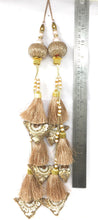 Load image into Gallery viewer, Rose Gold Cutdana Tassel Latkan - Set of 2