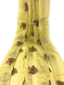 Yellow colour fabric online