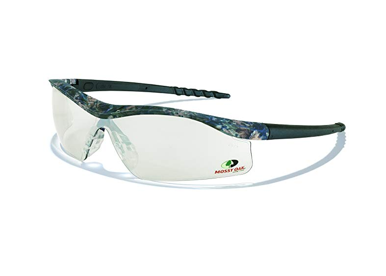 MCR Safety MODL119AF Mossy Oak Single Lens Glasses with Dallas Camo Frame and Clear Anti-fog Lens