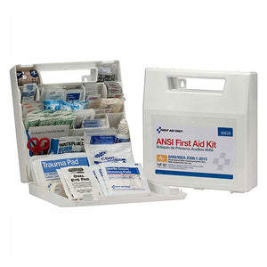 First Aid Only™ 90639 First Aid Kit, 50 Person, ANSI Compliant, Class A+, Plastic Case