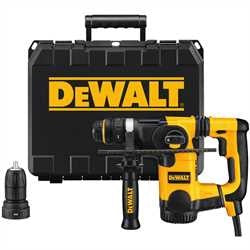 "DeWalt  1"" L-SHAPE SDS ROTARY HAMMER KIT WITH QUICK CHANGE CHUCK"