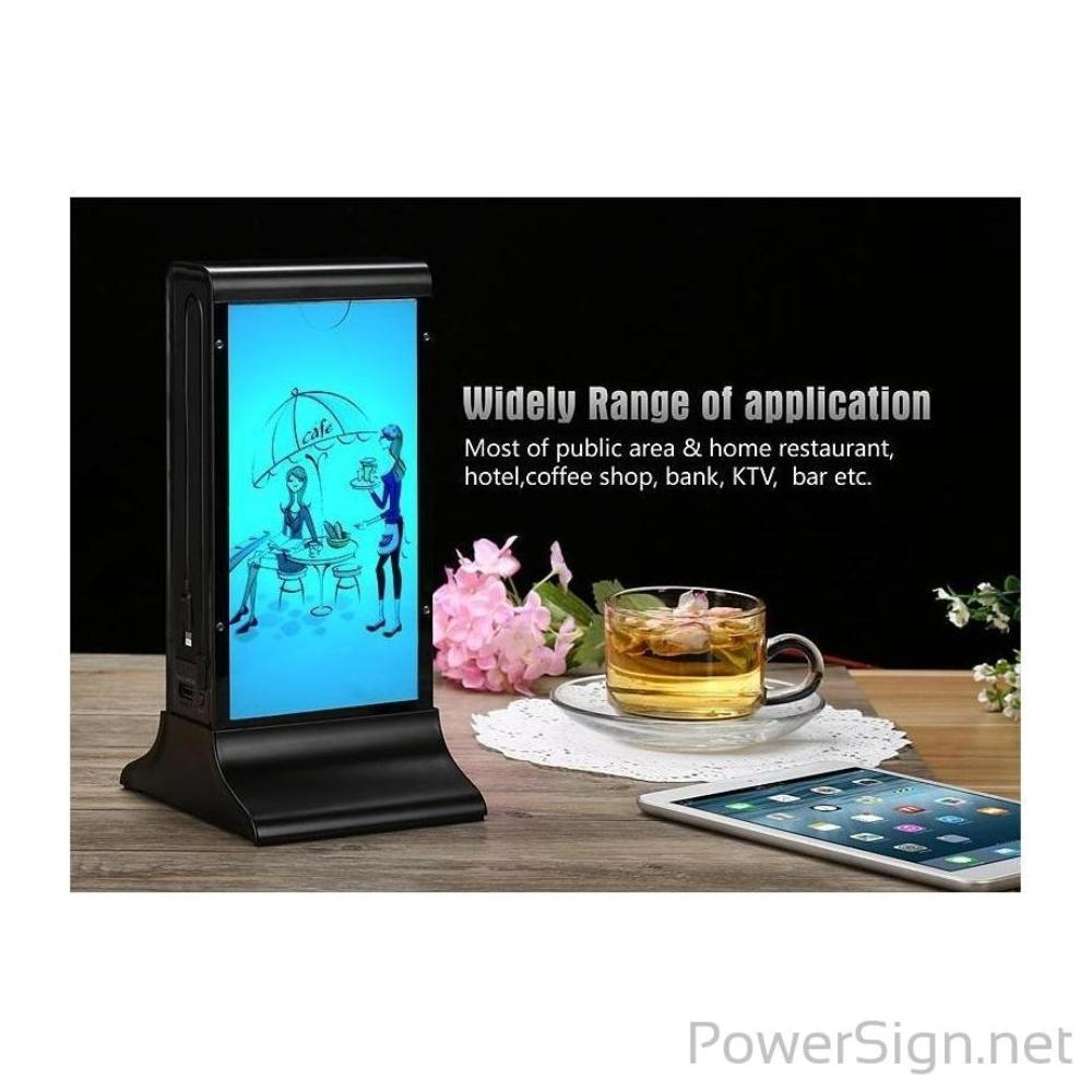 PowerSign FYD-835B Restaurant Menu Power Bank / Charging Station / LED Menu Holder FYD835B