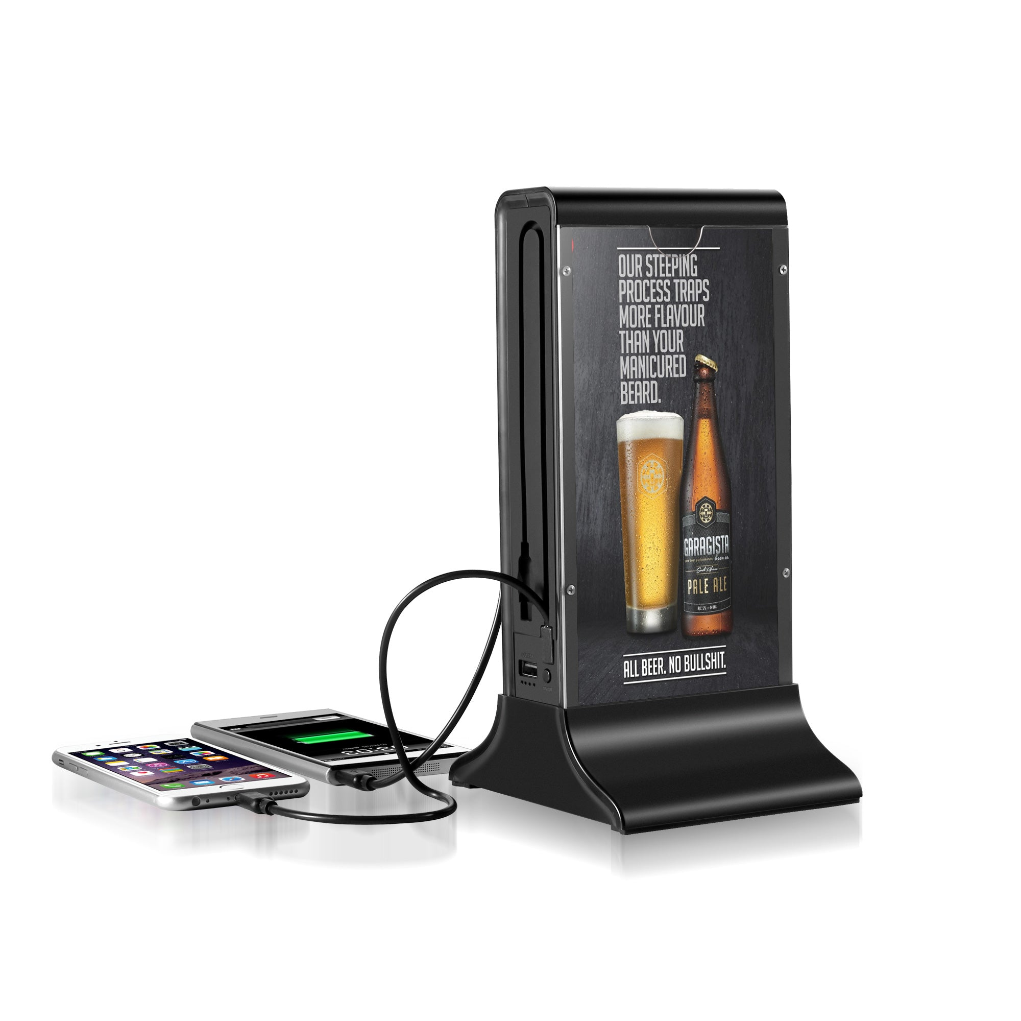 PowerSign FYD-835G Non WiFi Table Advertising Player Single LCD /  Restaurant Menu / Charging Station FYD835G