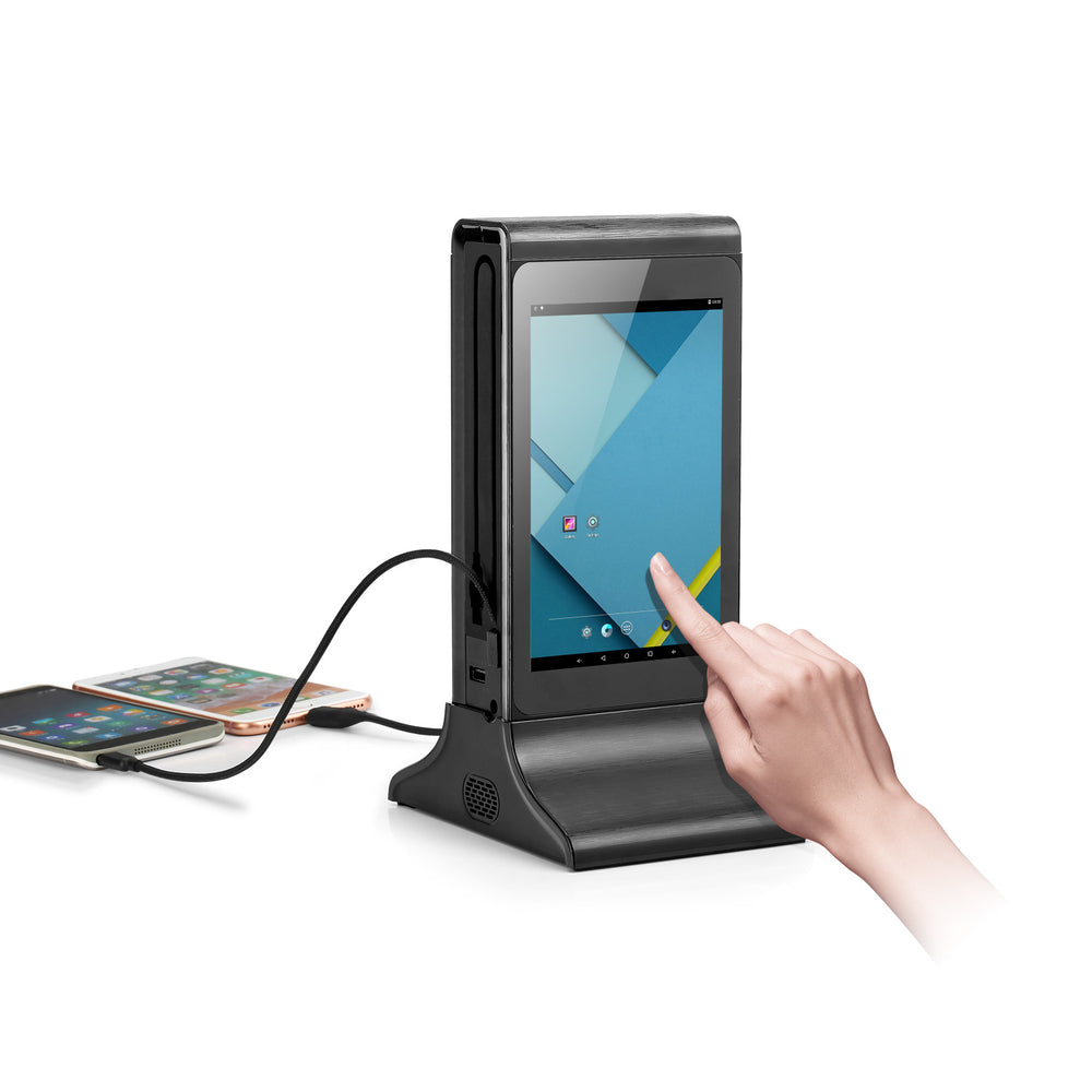 PowerSign FYD-835S WiFi Table Advertising Player Single LCD / Restaurant Menu / Charging Station FYD835S