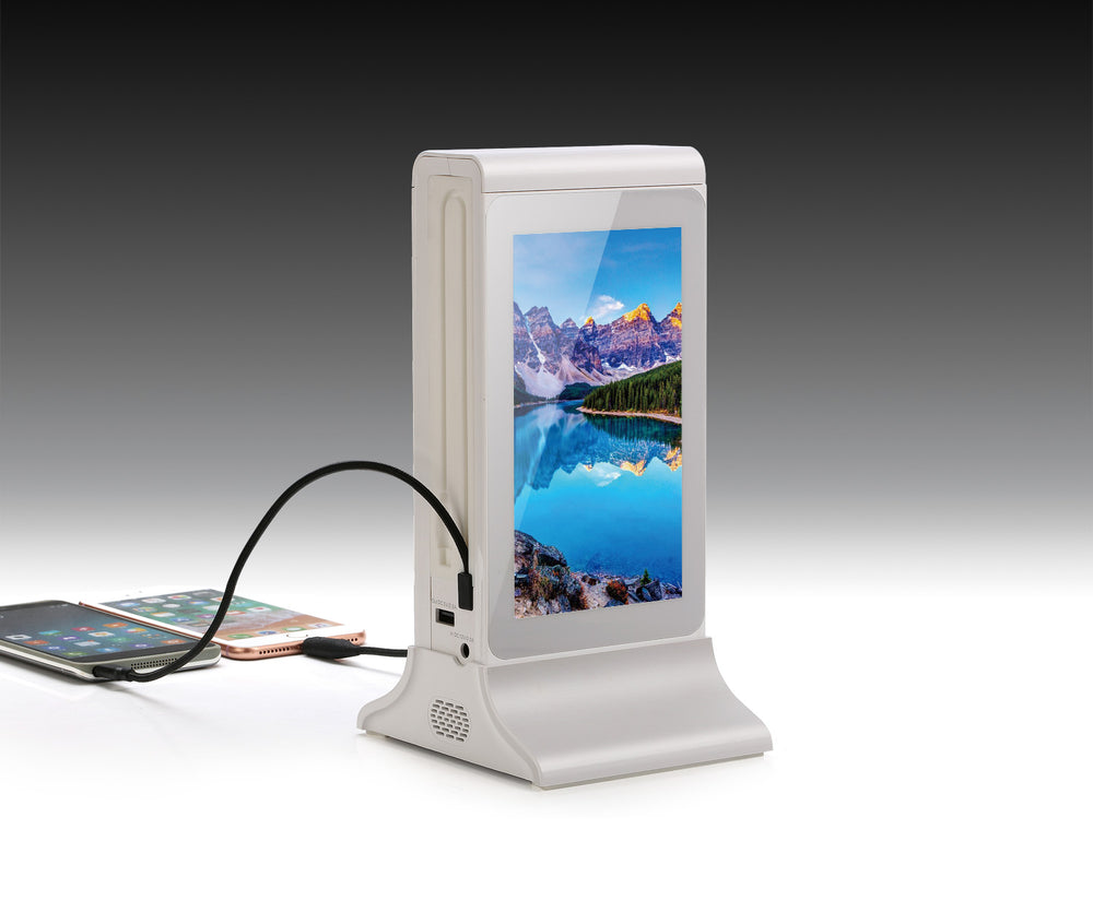 PowerSign FYD-835E WiFi Table Advertising Dual LCD Player / Restaurant Menu/ Charging Station FYD835E