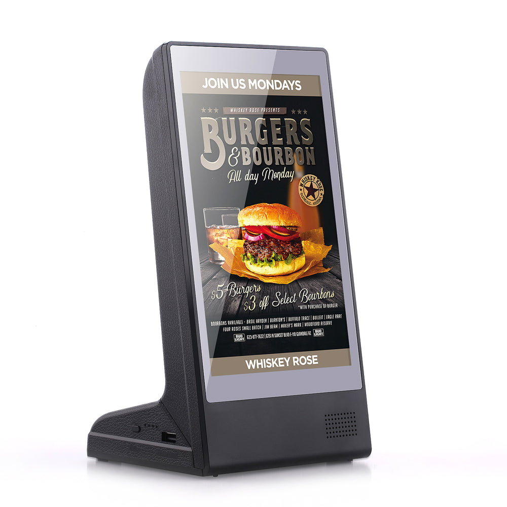 PowerSign FYD-898 WiFi Table Advertising Player Single LCD 8 Inch Call Order Ad Display Restaurant Table Advertising Player