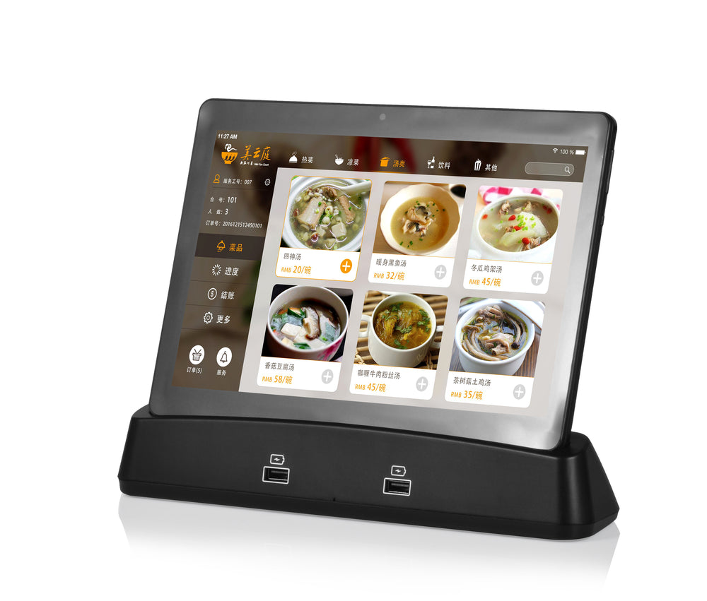 POWERSIGN PS-E10C 10 inches Android Restaurant Tablet with docking Stand PowerBank