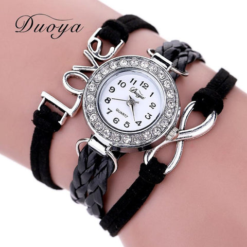Montre Femmes Wrist Watches For Women Fashion Diamond Dial Quartz Watch Female Clock Lady Luxury Brand Leather Quartz Watch #JO