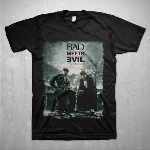 Bad Meets Evil Burn - Mens Black T-Shirt
