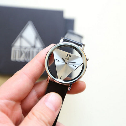 2017 Unique Hollowed-out Triangular Dial Women Watches Relogio Feminino Quartz Wristwatch Men Watch Relojes Hombre Dress Relogio