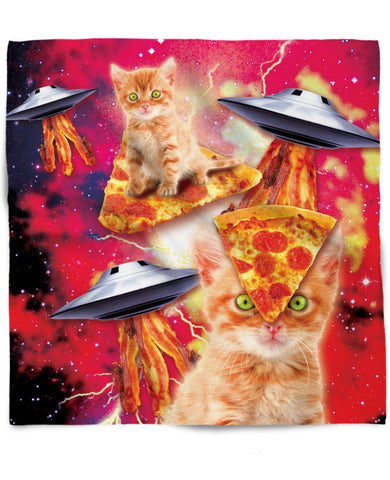 Bacon Pizza Space Cat Bandana
