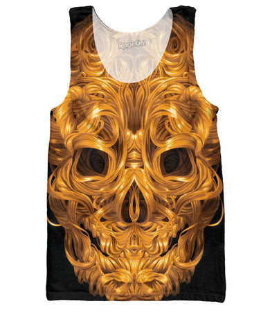 Aurum Calvariam Golden Skull Tank Top